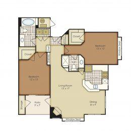 Bell Flatirons Two bedroom 4B2B Floor Plan